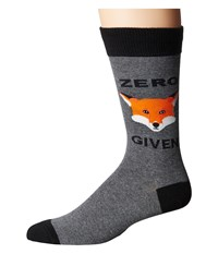 Socksmith Zero Fox Given Heather Gray Crew Cut Socks Shoes