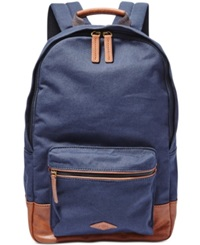 Fossil Estate Canvas Backpack Navy