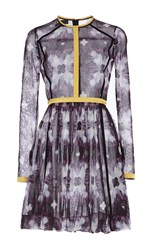 Burberry Digital Tie Dye Cotton Tulle Dress Print