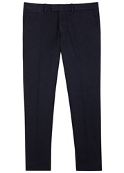 J. Lindeberg Grant Textured Twill Trousers Navy
