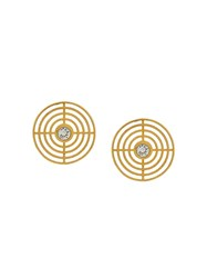 Charlotte Valkeniers Extra Large Coil Stud Earrings Gold