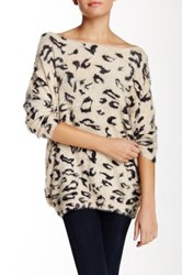 Raga Long Sleeve Fuzzy Sweater Beige