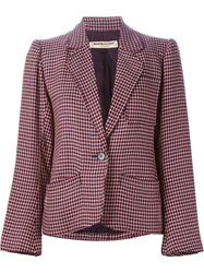 Yves Saint Laurent Vintage Houndstooth Blazer Nude And Neutrals