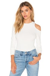 Twenty Exposed Shoulder Bodysuit White