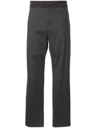 Tomorrowland Elasticated Straight Leg Trousers Grey