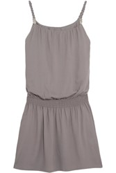 Heidi Klein Huntington Beach Voile Mini Dress Gray