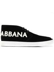 Dolce And Gabbana Logo Derby Shoes Black