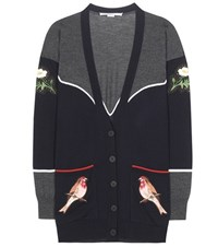 Stella Mccartney Embroidered Cardigan Grey