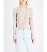 Sandro Andrey Knitted Cardigan Nude