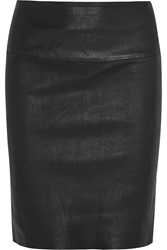 Muubaa Salvador Stretch Leather Skirt Black