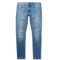 Belstaff Tattenhall Skinny Fit Panelled Stretch Denim Jeans Indigo