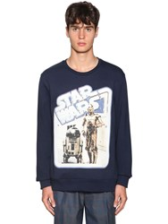 Etro Printed Cotton Sweatshirt Blue