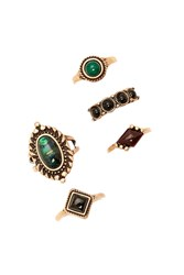 Forever 21 Antique Faux Stone Ring Set
