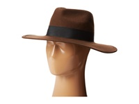 Hat Attack Glam Hat Brown W Black Ribbon Trim Knit Hats