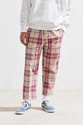 Urban Outfitters Uo Spencer Plaid Pant Yellow
