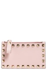 Valentino Women's 'Rockstud' Leather Coin Purse Card Case