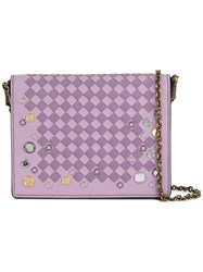 Bottega Veneta Intrecciato Satchel Pink And Purple