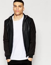 Eclipse Mix Bomber Jacket Black