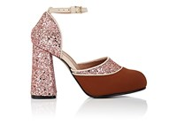 Marni Women's Neoprene And Glitter Mary Jane Pumps Brown Pink Beige No Color