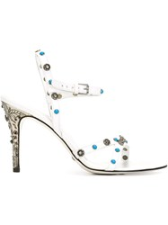 Dolce And Gabbana Vintage Studded Sandals White
