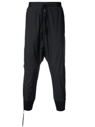 Unravel Project Drop Crotch Trousers With Large Pockets Black