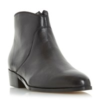 Dune Pearcey Long Point Ankle Boots Black