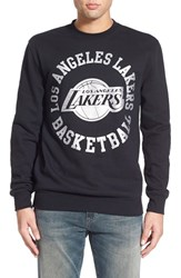 Men's Mitchell And Ness 'Los Angeles Lakers Blank' Fleece Crewneck Sweatshirt
