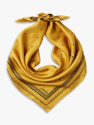 Joules Bloomfield Bee Print Square Silk Scarf Yellow