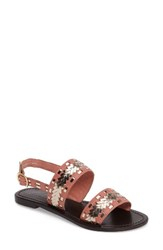 Callisto Women's Adela Two Band Sandal Coral Leather