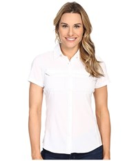 Columbia Lo Drag Short Sleeve Shirt White Women's Short Sleeve Button Up