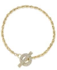 Inc International Concepts Crystal Toggle Chain Necklace Only At Macy's Gold