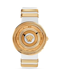 Versace V Metal Rose Gold And White Dial Watch 40Mm