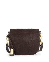 Khloe Calf Hair Crossbody Bag Espresso Brown Badgley Mischka