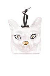 Loewe Cat Face Charm In White