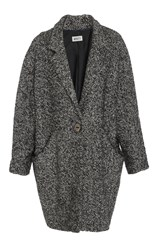 Whit Verna Wool Cocoon Coat Black White