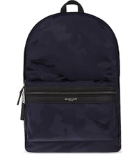 Michael Kors Kent Camouflage Nylon Backpack Indigo