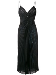 Marco De Vincenzo Spaghetti Strap Dress Black