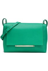 Delpozo Bo Embellished Leather Shoulder Bag Green