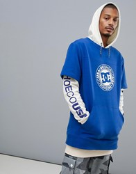 Dc Shoes Dryden Hoodie In Blue White