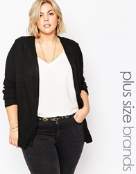 New Look Inspire New Look Ribbed Cardigan Black