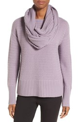 Nordstrom Women's Collection Texture Knit Cashmere Pullover With Snood
