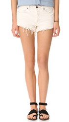 Free People Soft And Worn Relaxed Cutoff Shorts White
