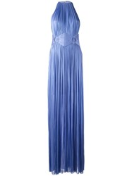 Maria Lucia Hohan Side Slit Gown Blue