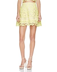 Lovers Friends Lovers And Friends Embroidered Lace Mini Skirt Sunshine