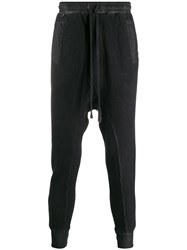 Thom Krom Asymmetric Drop Crotch Trousers Black