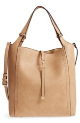 Sole Society Large Studded Faux Leather Tote Brown Camel
