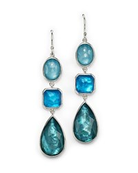 Ippolita Sterling Silver Wonderland Triple Drop Earrings In Blue Star Blue Silver