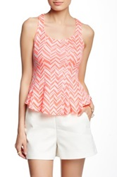 Blvd Sleeveless Chevron Print Tank Multi
