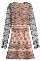 Red Valentino Dress With Lace Overlay Rose