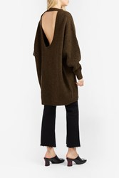 Ellery Oversized Knit Jumper Brown